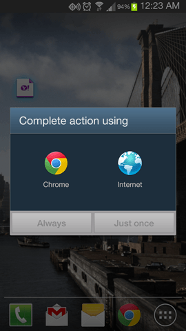 how to change default browser samsung