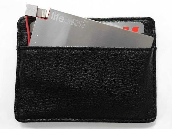 Lifecard stored in wallet