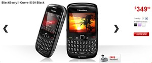 Rogers BlackBerry Curve 8520 on PAYG