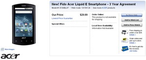 Best Buy Fido Acer Liquid e