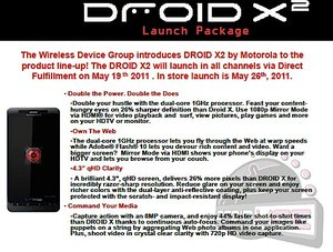 Motorola Droid X2 launch